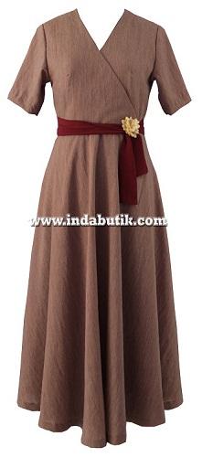 Dress Coklat Ibu Aat