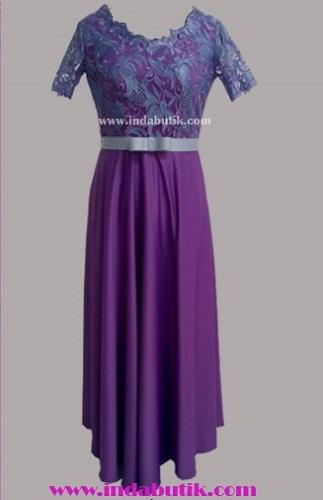 Dress Ungu Ibu Esther