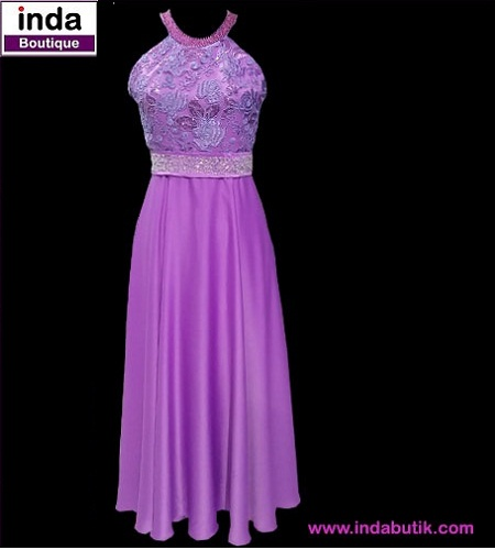 Dress Ungu Ibu Elvi