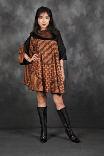Dress Lurik Coklat