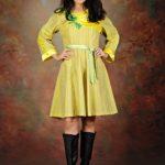 Dress Lurik Kuning