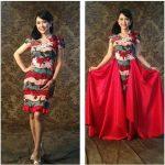 Kreasi Dress Premium Batik Merah Mbak Ratna Listy