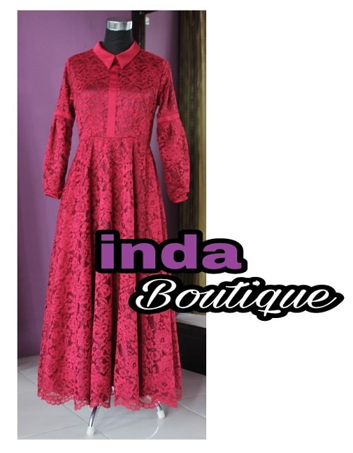 Dress fuschia indabutik