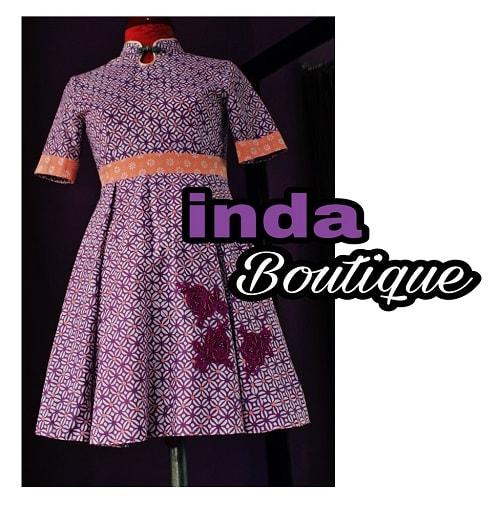Dress Batik Pesanan Ibu LIlis – Pondok Damai