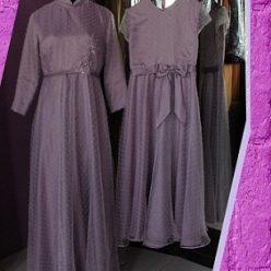 Dress Muslimah Abu-abu Pesanan Ibu aat di Cileungsi oleh Indabutik