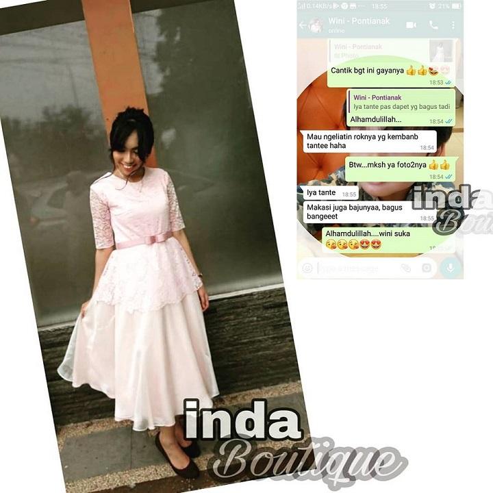 Dress wanita cantik pesanan Mbak Wini - Pontianak by Indabutik