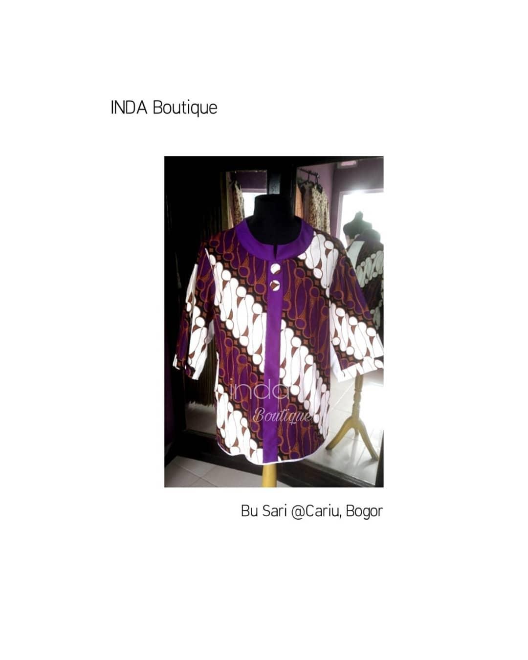 Blouse Batik untuk Ibu Sari di Cariu – Jonggol