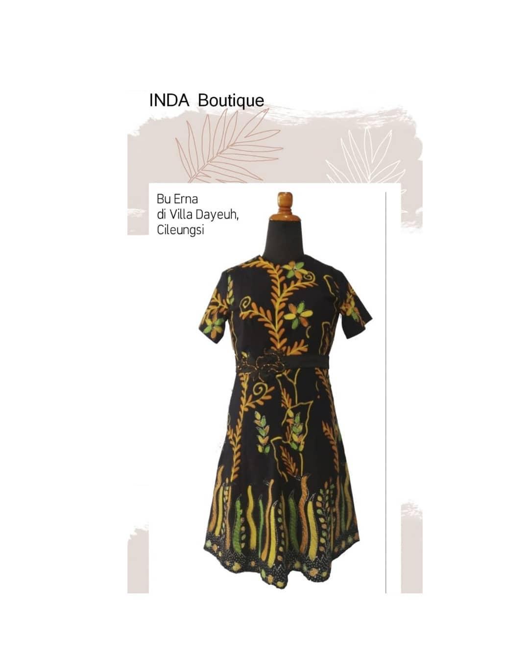 Dress Batik Cantik untuk Ibu Erna di Villa Dayeuh – Cileungsi