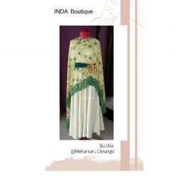 Dress Hijau Cantik untuk Ibu Aulia di Mekarsari - Cileungsi by Indabutik