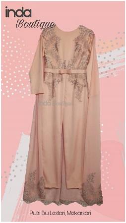 Dress Cantik Pesanan Putri Ibu Lestari di Mekarsari by Indabutik