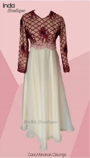 Gaun Cantik untuk Kak Caca di Mekarsari, Cileungsi by Indabutik