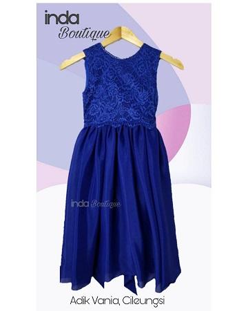 Gaun Biru Cantik untuk Adik Vania di Cileungsi by Indabutik