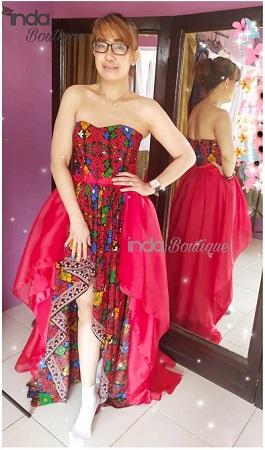 Dres merah songket Kak Emilia di Rafles Hills Cibubur by Indabutik 2019