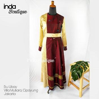 Dress Bu Ubay di Villa Mutiara Cipayung Jakarta by Indabutik Cileungsi