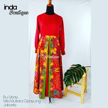 Gaun Batik untuk Ibu Ubay di Villa Mutiara - Cipayung by Indabutik Cileungsi