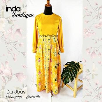 Dress Batik Betawi untuk Ibu Ubay di Cilangkap by Indabutik Cileungsi
