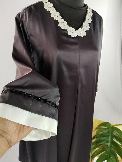 Aplikasi Detil Dress Anggun Premium untuk Ibu Sari di Cariu - Jonggol by Indabutik Cileungsi 2020