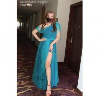 Dress Biru Cantik dan Sexy Mbak Lia Rafless Hills Cibubur by Indabutik