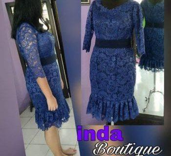 Dress Biru Cantik Indabutik Cibubur Cileungsi