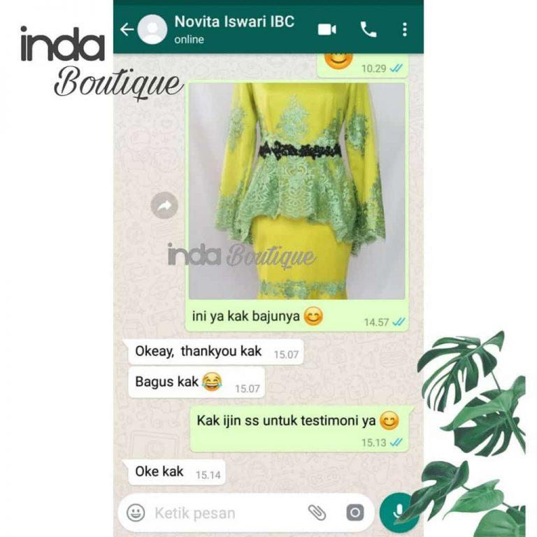 Testimoni-Dress Hijau Indabutik Kak-Novi-dari-Surabaya